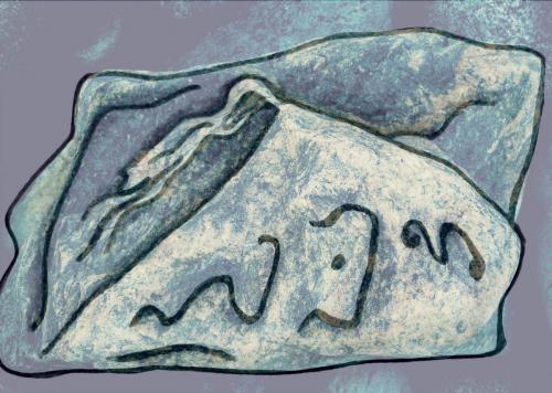 рис на камн 0013-B